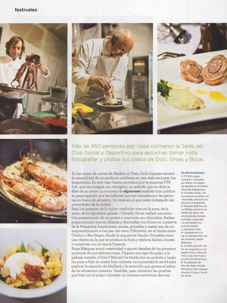 Agosto de 2014 Revista El Gourmet- Pág 78,88- Sección Festivales- Puerto Madryn (2)