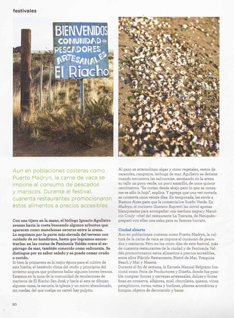 Agosto de 2014 Revista El Gourmet- Pág 78,88- Sección Festivales- Puerto Madryn (3)