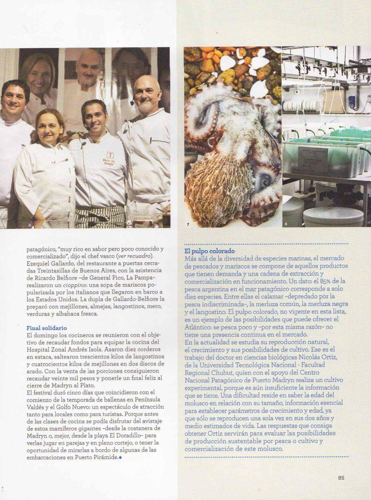 Agosto de 2014 Revista El Gourmet- Pág 78,88- Sección Festivales- Puerto Madryn (5)